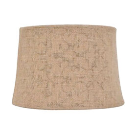 Picture of Burlap Flower Lamp Shade 13X15