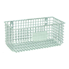 Picture of Rectangular Metal Mesh Wall Basket - Silver