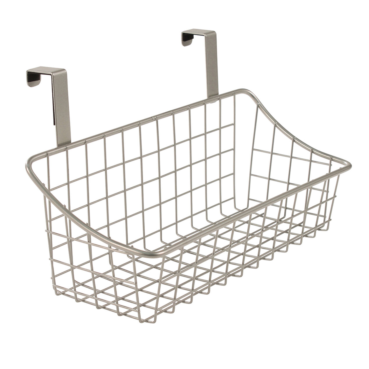 Over The Cabinet Basket Small Over The Cabinet Door Wire Grid Basket Nickel At Home