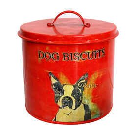 Picture of Vintage Red Dog Treat Canister