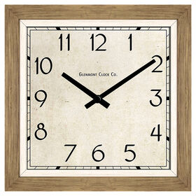 Picture of 24-in. Natural Wood Shadowbox Clock