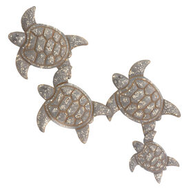Picture of 38IN METAL 4 TURTLE WALL DECOR