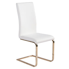 Picture of White and Gold Circa Dining Chair