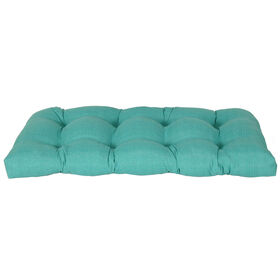 Picture of Teal Peacock Wicker Settee Cushion