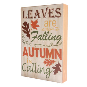 8X11 Wood Sign Autumn is Calling