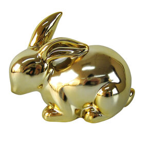 Picture of Golden Ceramic Decorative Easter Bunny