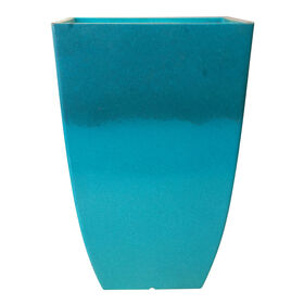 Picture of Turquoise Newland Tall Planter 21-in