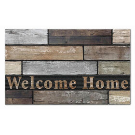 Picture of Faux Wood Welcome Home Doormat 18 x 30-in