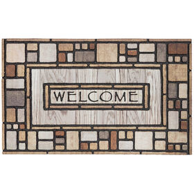 "Picture of Drifted nature ""Welcome"" mat- 18X30"
