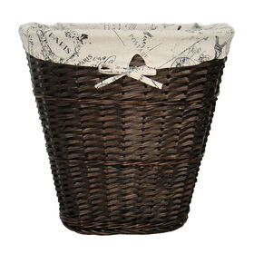 Picture of Oval Split Willow Hamper - Espresso Script