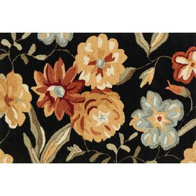Picture of Layla Black Floral Accent Rug 2.3 X 3.9 ft