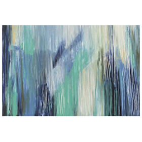 Picture of Sweet Home Blue Tones Abstract Art- 36x60 in.