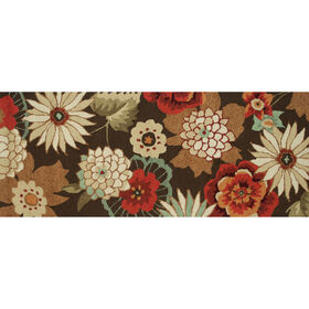 Picture of A94 Brown Multi Flower Rug