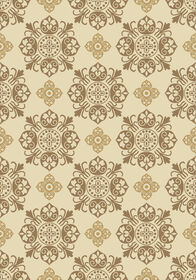 Picture of Cream Basic Medallion Rug 8 X 10 ft