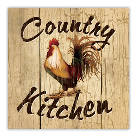 Picture of Country Kitchen Rooster Accent Art- 12x12 in.