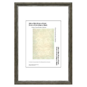 Picture of 24 X 36-in Coffee and Gray Poster Frame
