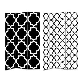 Picture of Black and White Moroccan Grid Screen