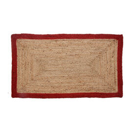 Picture of B270 Jute Braid Rug with Red Border