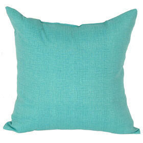 Picture of Teal Peacock Square Outdoor Pillow