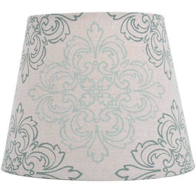 Picture of Print Linen Damask Lamp Shade 7X10X8