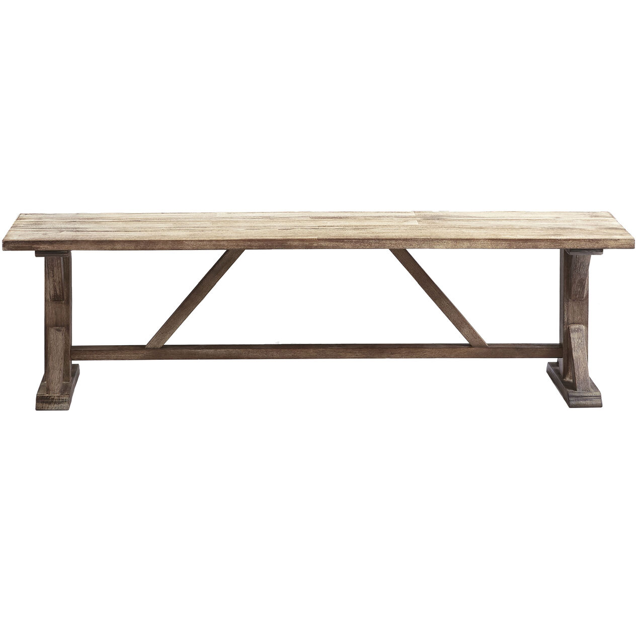 Camden Wood Trestle Bench 66 In At Home