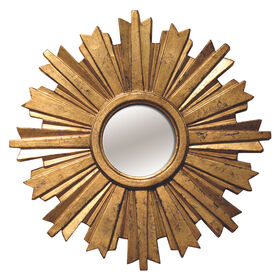 Picture of 18-in Antique Gold Sunburst Mirror