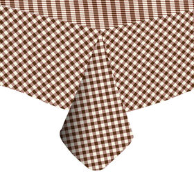 Picture of Brown Plaid Vinyl Tablecloth