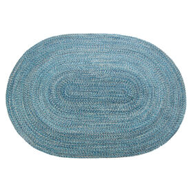 Picture of D253 Blue Braided Oval Rug