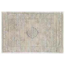 Picture of A218 Beige and Blue Traditional Rug- 5x7 ft