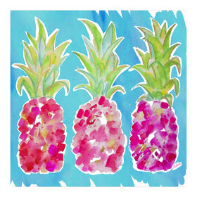 Picture of Pink Pineapples Canvas Wall Art- 14x14 in.