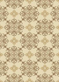 Picture of Cream Basic Medallion Rug 5 X 7 ft