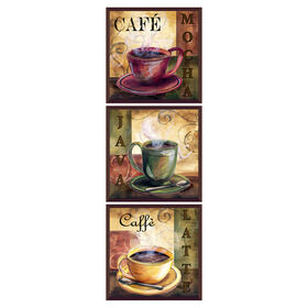 Picture of 8 X 8-in Coffee Cups Plaque- 3 Piece