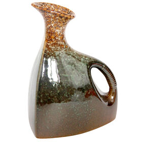 Picture of Gold and Brown Vase with Handle 7 X 9