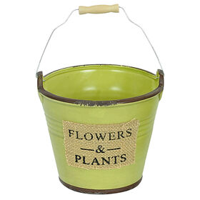 Picture of Green Flowers & Plants Planter- 6-in
