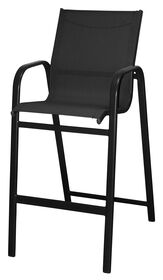 Picture of Black Sling High-back Bar Stool 30 in.