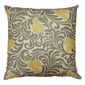 """Picture of 23"""" Empress Yellow and Gray Pillow"""
