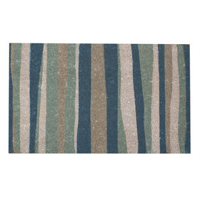 Picture of Coir Stripes Rug - Blue, 18x30-in.