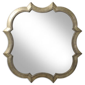 Picture of 30 X 30-in Chapagne Quatrefoil Mirror