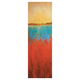 Picture of 12 X 36-in Seismic Red, Tan and Black Studio Art