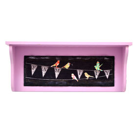 Picture of 16 X 4-in Pink Family Wood Shelf