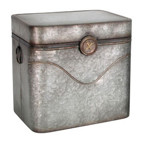 Picture of Galvanized Metal Button Trunk 18.5-in