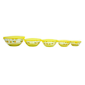 Picture of 5 Piece Glass Storage Set - Yellow