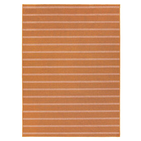 Picture of Orange Avery Stripe Rug 5 X 7 ft