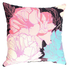 Picture of Painters Floral Pillow- 18-in