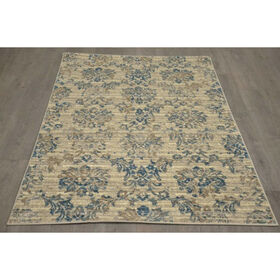 Picture of B304 Ivory and Blue Antique Rug