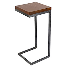 Picture of Wood & Chrome C-Table- Large (Sold Separately)