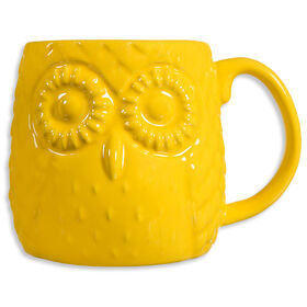 Picture of Yellow Owl Embossed Mug- 20oz