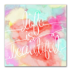 Picture of 16 X 16-in Life Is Beautiful Accent Art