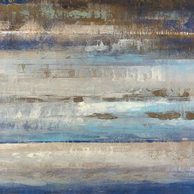 Picture of Blues Horizon Coastal Art- 24x24 in.