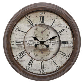 Picture of 28-in Brown Clock